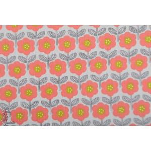 Popeline Poppy Feeling Like spring coton fleur graphique rétro vintage