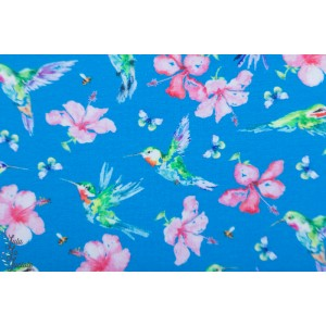 Sweat Digital Hummingbird colibri oiseau couleur bleu fleur