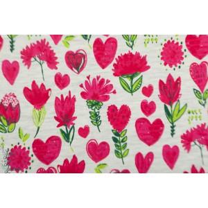 Sweat Lovely flowers poppy fleur graphique rouge femme