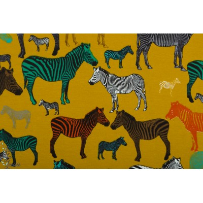 Sweat Zebra business  zebre animaux couleur moutarde enfant poppy