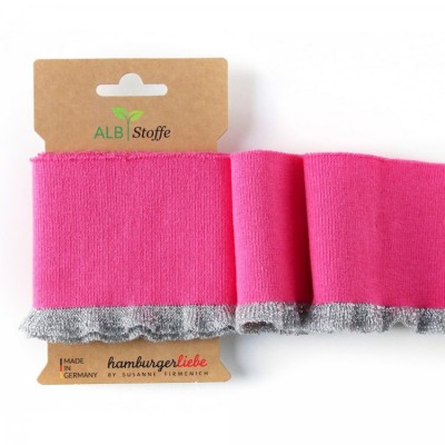 Cuff me Frill -01 - Glam girly bord cote hamburger liebe rose argent