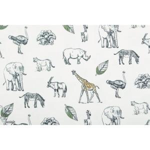 Jersey bio dessins d'animaux sauvage afrique girafe auteuche feuille