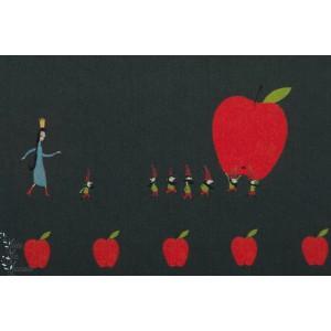 Popeline fine Bio - Schneewittchen 7 naims et la pomme c pauli