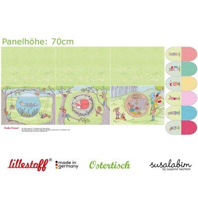 Panneau jersey Bio Ostertisch Lillestoff - Set de table - Susalabim - Paques