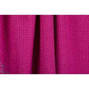 jacquard Big Knit Glow Pink Hamburger Liebe Bio