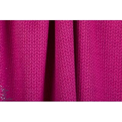 jacquard Big Knit Glow Pink Hamburger liebe tose lurex sweat bio maille