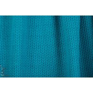 jacquard Big Knit Glow turquoise Hamburger liebe bio