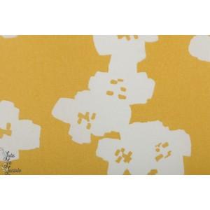 Toile imperméable Rico fleur jaune