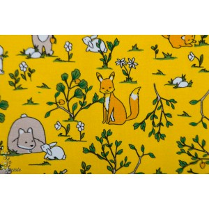 Jersey bio Fox jaune animaux renard lapin forêt ours enfant