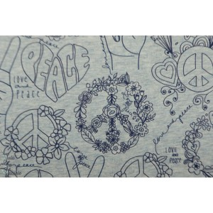 Jersey Bio Peace And Love Lillestof enfant ado grafiti