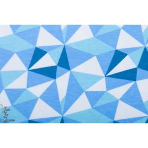 jersey bio Geometrical Stoffonkel graphique bleu Blaubeerpfütze