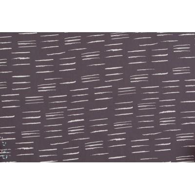 """batiste de coton Atelier Brunette """"Chalk Charcoal"""", collection graphik."""