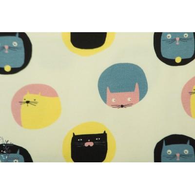 Jersey Katia Cat's Meow bulle chat graphique layette bébé