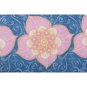 Modal Blumenranke, rosa SUSAlabim Lillestoff