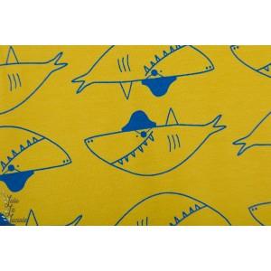 Jersey Katia Big Shark requin graphique jaune mer enfant
