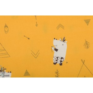 Popeline Katia  Pioneer Hipos  hippopotame animaux jaune garçon