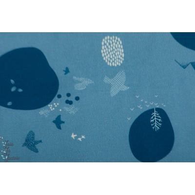 Popeline Katia  Japanese Landscape japon graphique campagne bleu