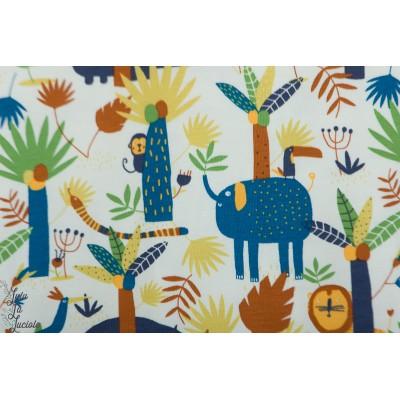 Jersey Katia Into the jungle animaux elephant lion girafe enfant bébé
