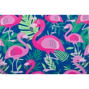 Softshell flamingos dark Blue