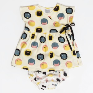 Patron Robe kimono et culotte Katia layette bébé