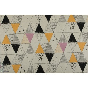 Tissu Canvas Gold Geometric Space KATIA