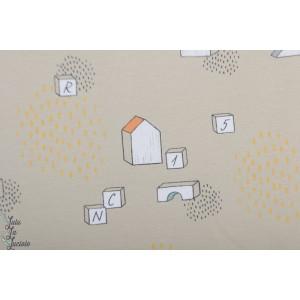 Jersey bio Wooden Toys Lillestoff jouet bois graphique cube zart