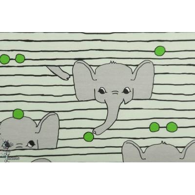 Jersey Fantrijemma Pea Verson Puoti elephant petit pois ligne enfant bébé vert