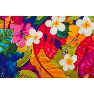 Popeline AH Torrid Zone tropique fleur ile couleur alexander henry
