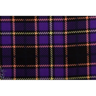 jersey Bio Portobello Wunderpop Karo lillestoff graphique carreau retro violet