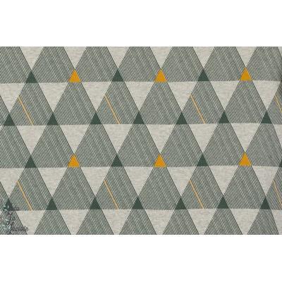 Tissu Jersey bio Dreiecke Kombi, triangles géométrique, SUSAlabim, Lillestoft, homme, femme, enfant
