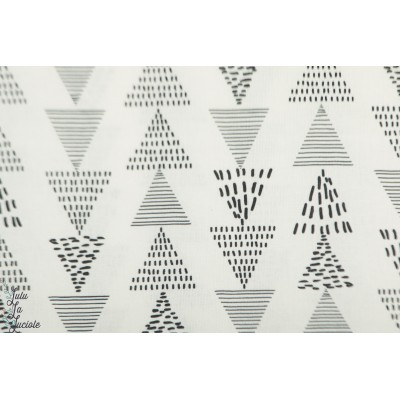 Popeline Katia Pioneer Kombi graphique triange blanc