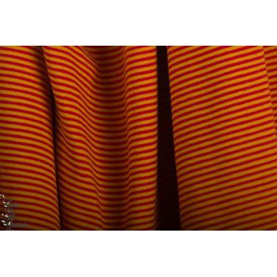 Jersey Bio Rayé Rot/senf Lillestoff rouge moutarde