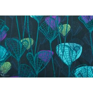 Popeline Forest fancies 321T PB bleu p&b textile fleur patch