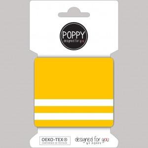 Cuff Poppy jaune et blanc