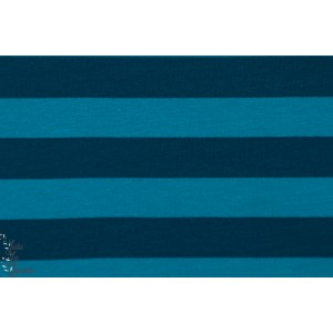 Sweat Rayé Bleu-Pétrole Lillestoff