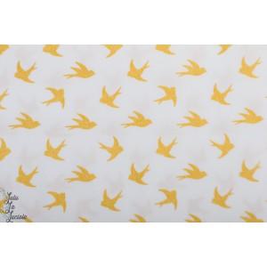 Popeline Stenzo Oiseaux Glitter graphique