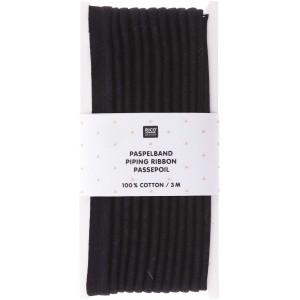 Passepoil coton Rico Noir 3 mètre