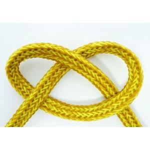 Cordon plat chiné couleur jaune au mètre