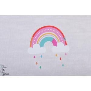 Panneau Jersey bio Regenbogen Lillestoff arc en ciel retro fille graphique pluie