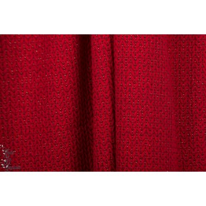 Jacquard bio  hamburger Liebe Glow Big Knit maille tricot pull sweat rouge