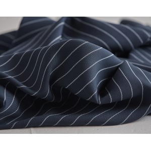 TENCEL PIN STRIPE TWILL piqué marine MeetMilk