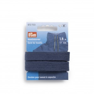 Cordon Sweat Capuche 17mm bleu plat prym 972703