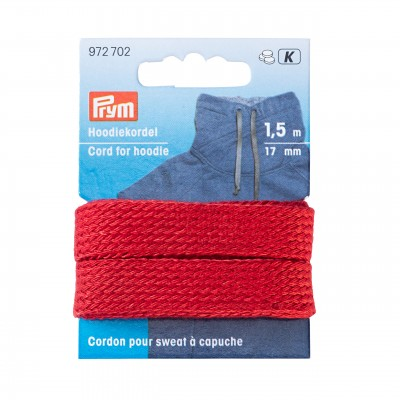 Cordn sweat Capuche 17mm rouge 972702 plat