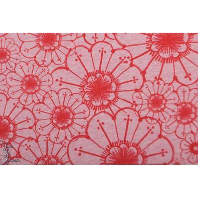 Jersey bio Lillestoff Lina miss patty fleur rouge mode femme
