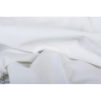 Dobby coton voile blanc pois texturé