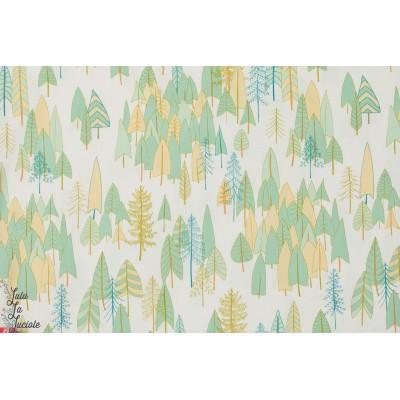 tissu popeline de coton Forêt - ALTI-1208 Collection Altitude par Pippa pour Dashwood