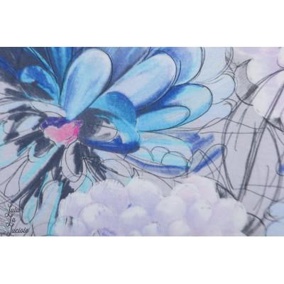 Modal Maravilla Bleu Lillestoff  fleur été tante gisi mode femme