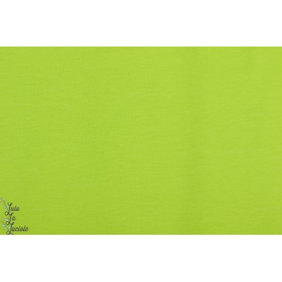 Jersey bio uni Lime Lillestoff vert citron vif