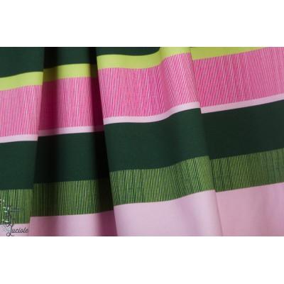 Jersey Ringel Vert-rose Lillestoff susalabim rayure bio