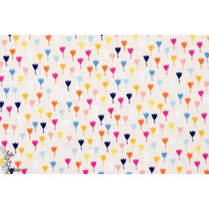 tissu popeline coton Tulipes - rose - DIDR-1195 Collection distant dreams par Daswood Studio